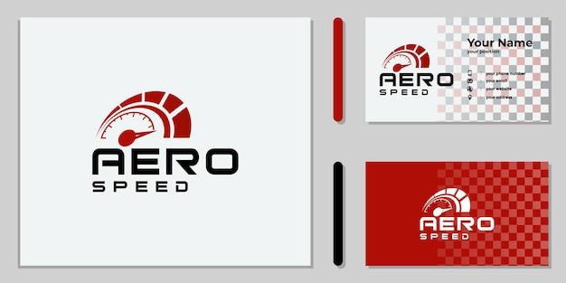 Set of creative rpm speed logo design
