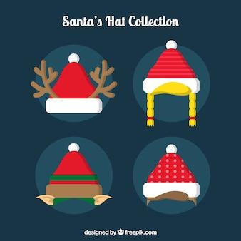 Set of creative santa claus hats