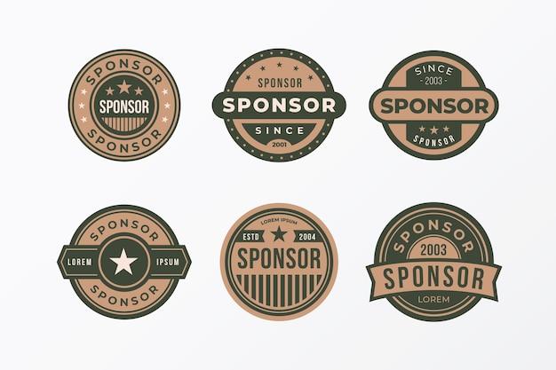 Set of creative sponsoring badges