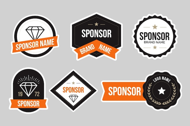 Set di adesivi di sponsorizzazione creativi
