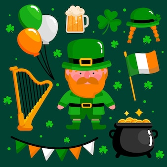 Set of creative st. patrick's day elements