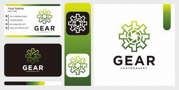 Установить творческий технический механизм шаблон логотипа фотостудии