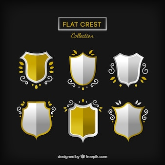 Set of crests with ornaments