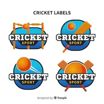 Set of cricket labels