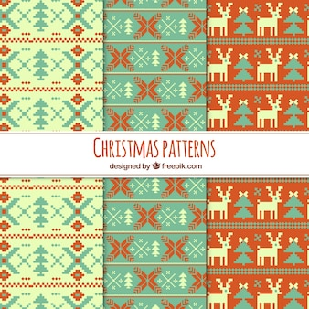 Set of cross stitch christmas patterns