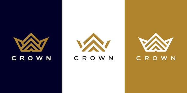 Set of crown logo design