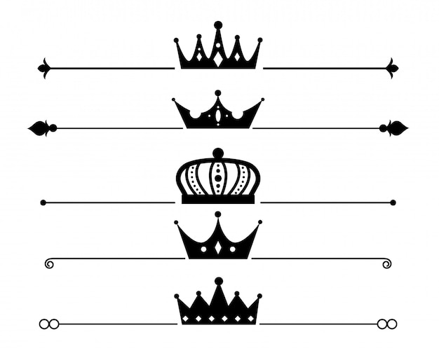 Set of crown separator or border design