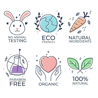Set of cruelty free badges illustrated