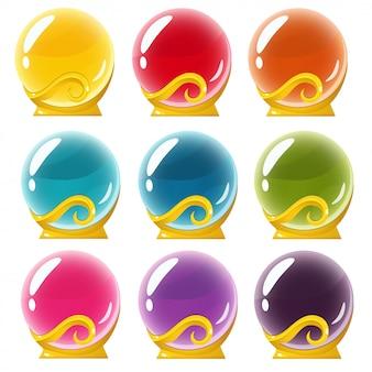 Set of crystall balls
