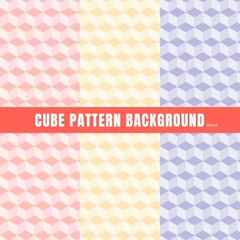 Set of cube pattern