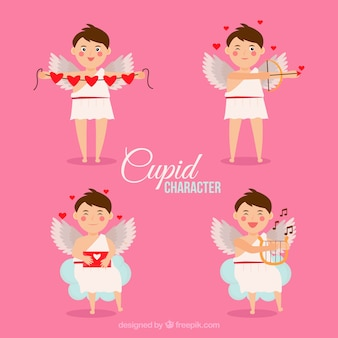 Set of cupid characters