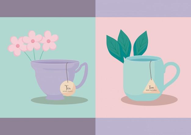 Set of cups tea