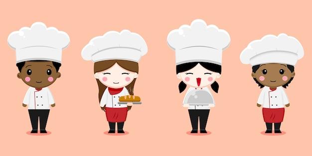 귀여운 꼬마 요리사 캐릭터 설정