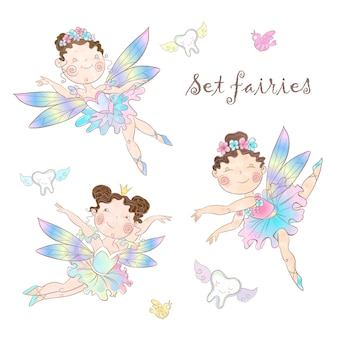 Set of cute fairies.