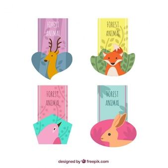 Set di adesivi simpatico animale della foresta
