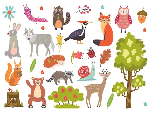 귀여운 숲 동물을 설정