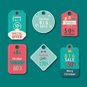 Set of cute illustration tags or labels cartoon style
