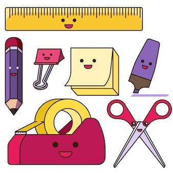 Set of cute stationary