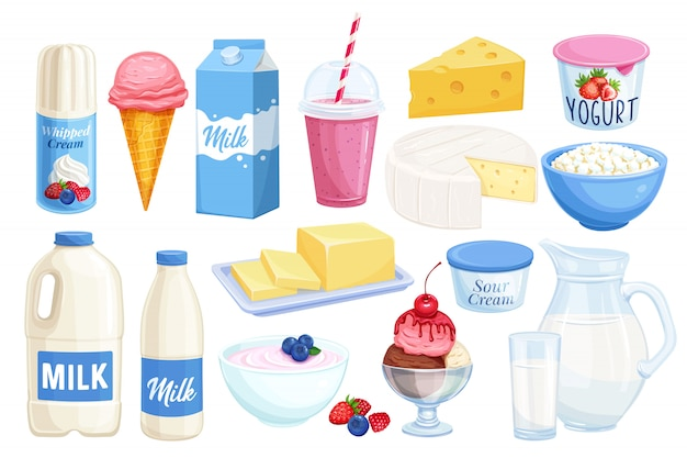 Set dairy products