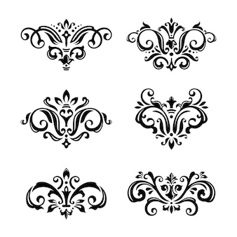 Set of damask stencil