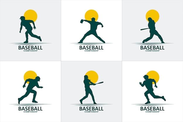 Set of dancing logo template design