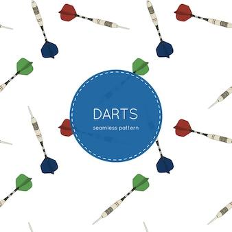 Set of darts, seamless pattern.