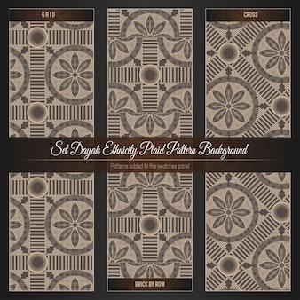Dayak 민족 격자 무늬 패턴 배경 설정