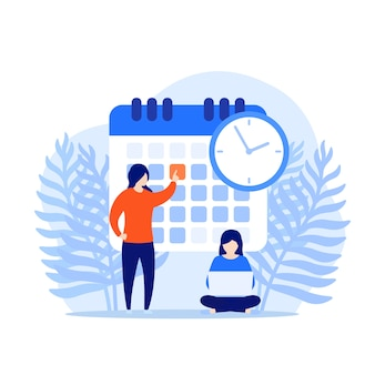 Set a deadline, time management concept