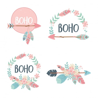 Set of decorations boho style