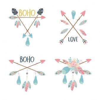Set of decorations boho style