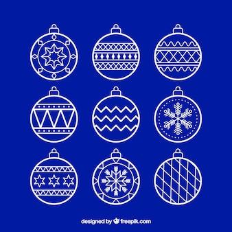 Set of decorative christmas balls