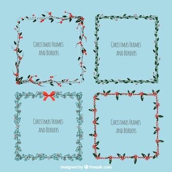 Set di cornici decorative di natale
