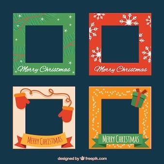 Set of decorative christmas frames
