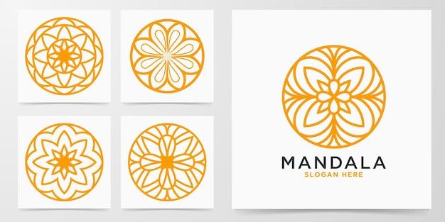 Set decorative mandala logo