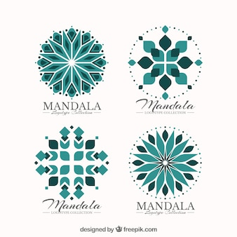 Set of decorative mandala logos