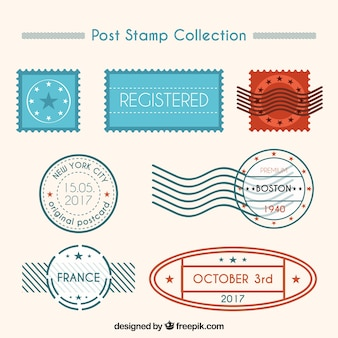 Set of decorative post stamps