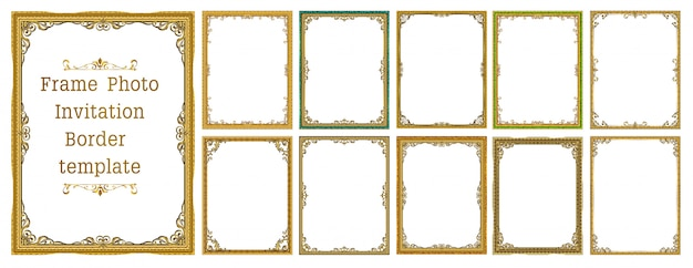 Set of decorative vintage frames and borders
