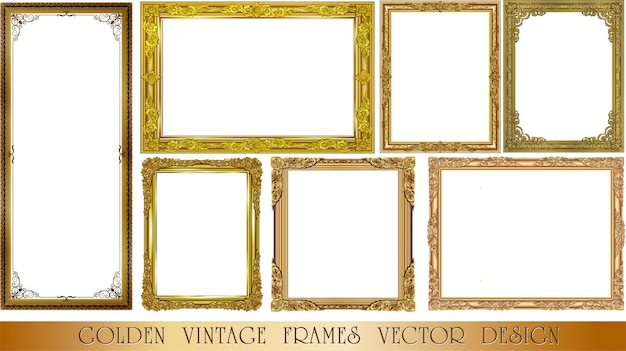 Set of decorative vintage frames set