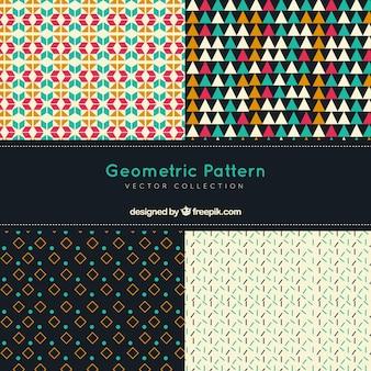 Set di motivi geometrici decorativi d'epoca