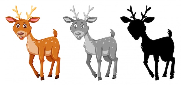 A set of deer character