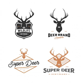 Set of deer logo
