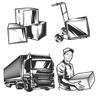 Set of delivery elements
