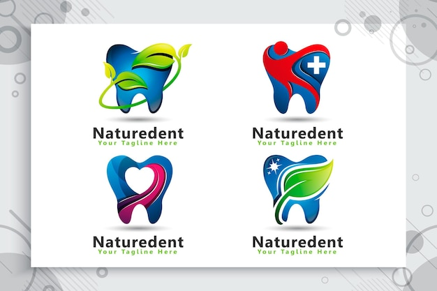 Set of dental care logo