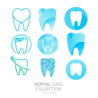 Set of dental clinic logo