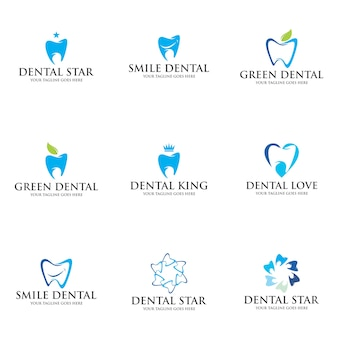 Set dental logo template