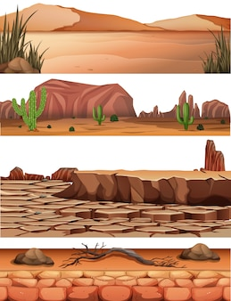 Set of desert land