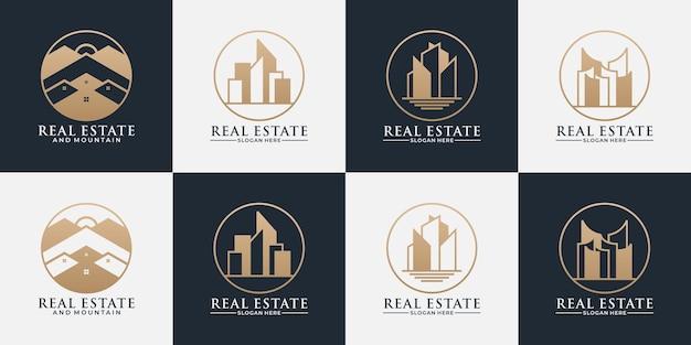 Set design inspiration real estate, building with golden color