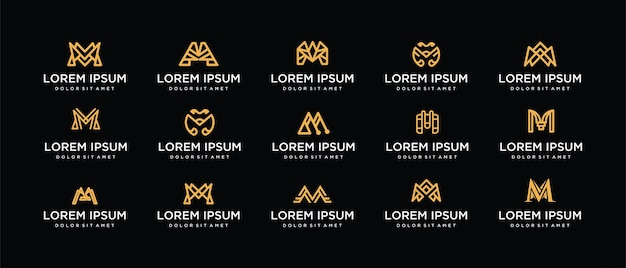 Set design logo letter m