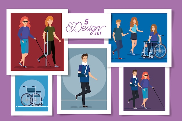 Set  designs of people disabled