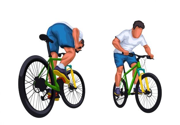 詳細な自転車ライダーを設定